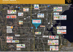 FL. Wilson Square Shopping Center: Competition Map